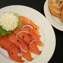 Smoked Salmon on Bagel