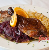 Roast Duck, Spätzle, Red Cabbage