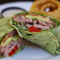 Roast Prime Rib Spinach Wrap