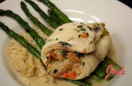 Tilapia filled with Crabmeat