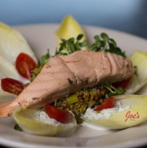 Cold Poached Salmon on Quinoa