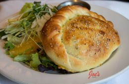Calzone with Orange, Jicama & Hemp Seed Salad